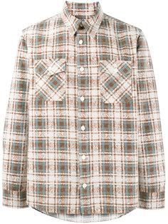 рубашка в клетку с потертой отделкой Elk Visvim
