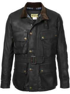 байкерская куртка с вощеной отделкой Addict Clothes Japan