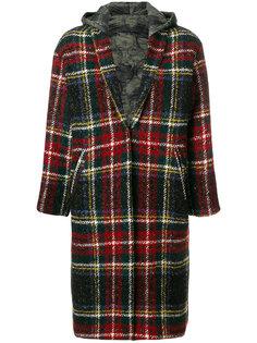 объемное пальто в клетку Forte Couture
