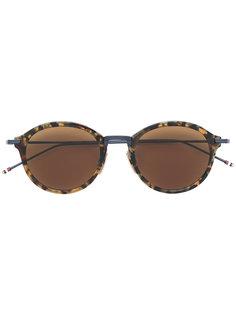 солнцезащитные очки с узором черепашьего панциря  Thom Browne Eyewear