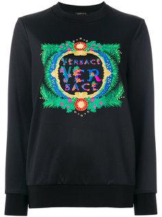 толстовка с вышитым логотипом Versace