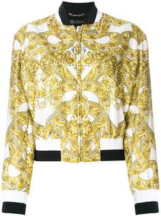 куртка-бомбер с барочным принтом Versace
