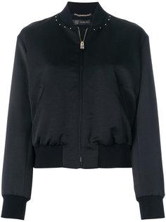 куртка-бомбер с декорированным логотипом Versace