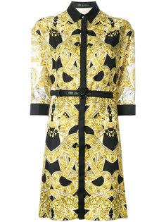 платье в стиле барокко с поясом Versace