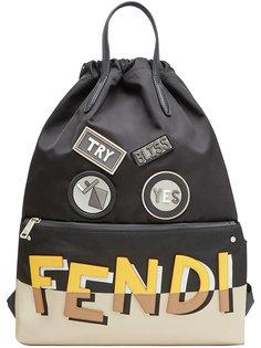 рюкзак с аппликациями Fendi