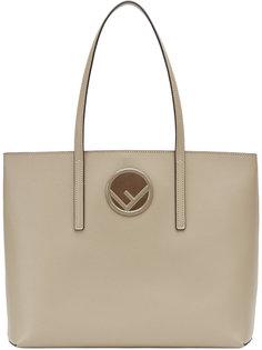 сумка-шоппер с бляшкой с логотипом Fendi