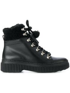 походные ботинки с отделкой из овчины Tods Tod`S