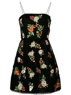 бархатное платье с цветочным рисунком Alice+Olivia