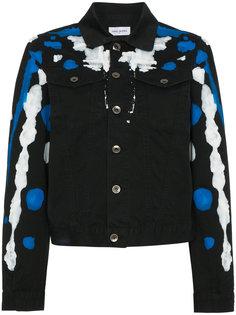 джинсовая куртка с брызгами краски Mirco Gaspari