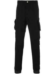 спортивные брюки с отделкой кантом  Versace Collection