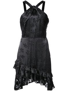 платье Faye с вырезом-петлей халтер Saloni