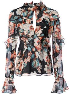 блузка с рюшами Luna Nicholas