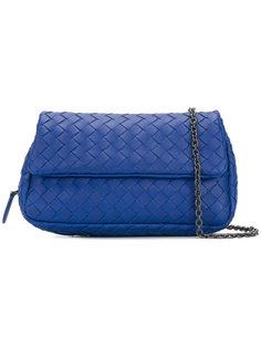 сумка-почтальонка с плетением Intrecciato Bottega Veneta