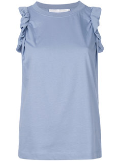 рубашка со сборкой на рукавах Victoria Victoria Beckham
