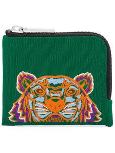 кошелек на молнии с вышитым тигром Kenzo