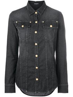 джинсовая рубашка с пуговицами  Balmain