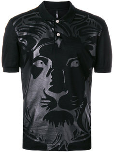футболка-поло с принтом льва Versus