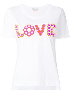 футболка с принтом Love Fendi