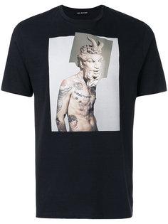 футболка с фото принтом Neil Barrett