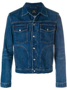 джинсовая куртка с плиссировкой Ps By Paul Smith