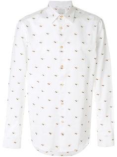 рубашка кроя слим с вышивкой Paul Smith