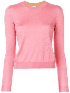 приталенный свитер с вышивкой Paul Smith