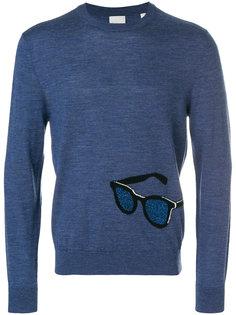 свитер с вышивкой солнцезащитных очков Paul Smith
