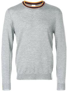 свитер с полосатой окантовкой Paul Smith