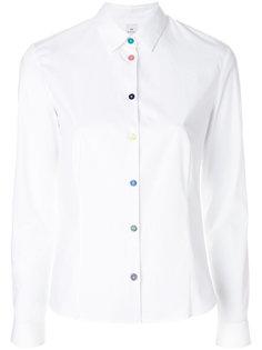 притленная рубашка с контрастными пуговицами Ps By Paul Smith