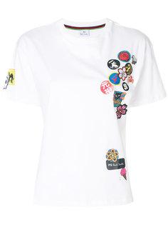 футболка лоскутного кроя Ps By Paul Smith