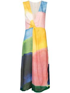 платье миди в стиле колор-блок  Rosetta Getty