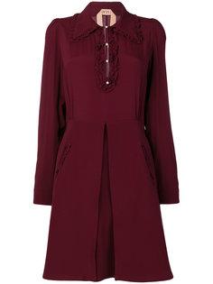 расклешенное платье с длинными рукавами  Nº21
