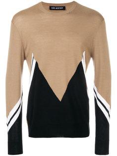 свитер с зигзагообразным узором Neil Barrett