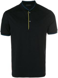 рубашка-поло без воротника Prada