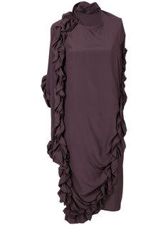 асимметричное платье с рюшами Marni