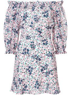 платье мини с открытыми плечами Saloni