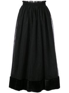 юбка миди с присборенной талией Cinq A Sept
