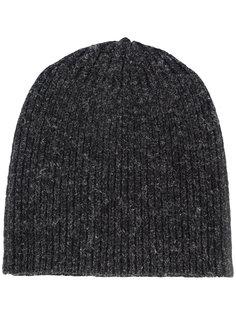 меланжевая шапка в рубчик  Jan Jan Van Essche