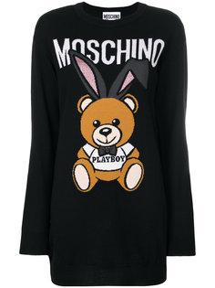 платье-свитер Playboy Toy Bear Moschino