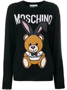 """свитер вязки """"интарсия"""" Playboy Toy Bear Moschino"""