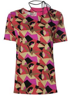 футболка с геометрическим принтом Marni