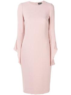 платье с рюшами Tom Ford