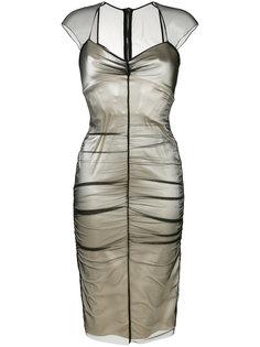многослойное приталенное платье  Tom Ford