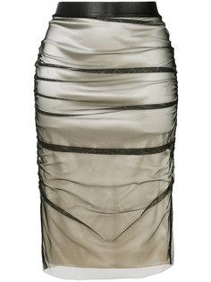 многослойная юбка-карандаш  Tom Ford