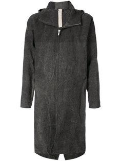 длинное пальто с капюшоном A Diciannoveventitre