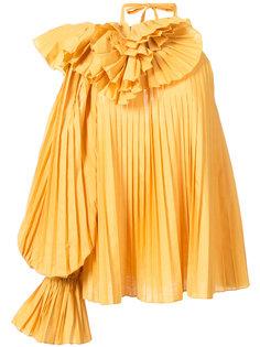 плиссированная блузка с открытым плечом  Rosie Assoulin