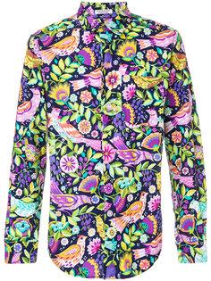рубашка с цветами и птицами Engineered Garments