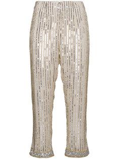 брюки с пайетками Ganni