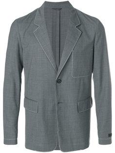 пиджак с контрастной строчкой Prada
