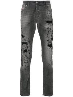 джинсы с потертой отделкой Tepphar  Diesel